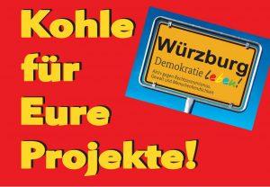 Kohle für Eure Projekte - Jugendforum Demokratie Leben Würzburg