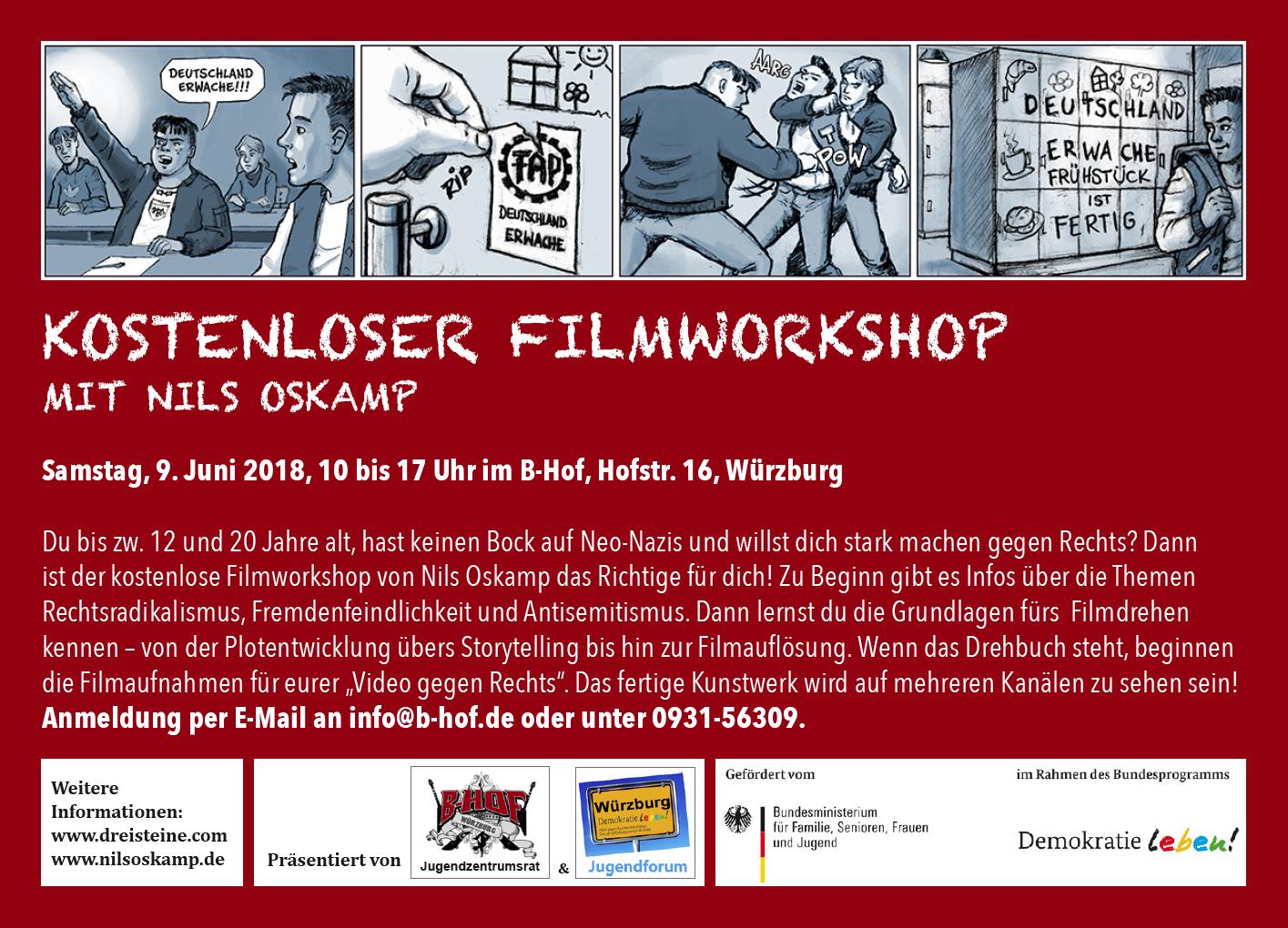 """DL-Jugendforum: """"Kreativ gegen Rechts –Filmworkshop mit Nils Oskamp"""""""